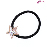 Lasted Fashion Yiwu Lovely Twinkle Star Decorative Crystal Elastic Hair Band For Girls Hair Rubber Rope Ornaments