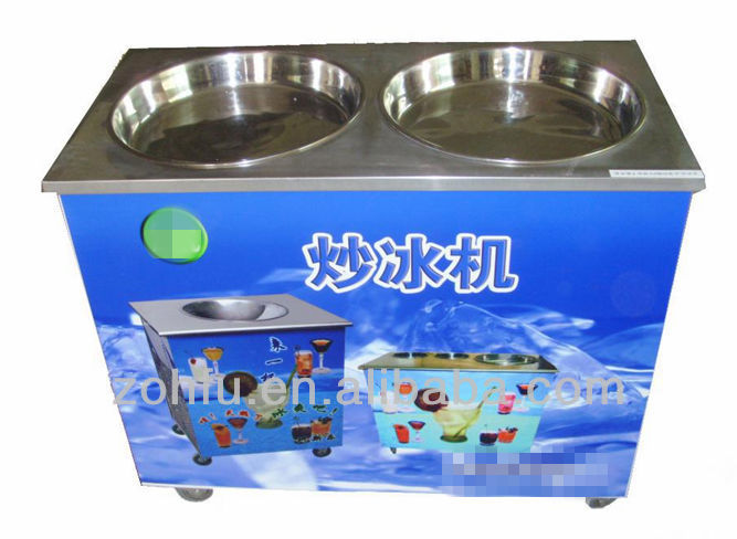 2015 top selling single pan fried ice cream machine marble cold stone fried ice cream machine