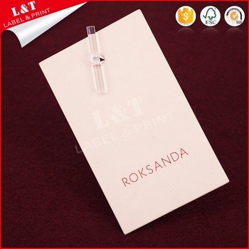 Customized Recycled Coated Paper Apparel Hang Tags