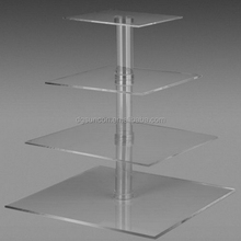 5 tier square wedding acrylic cake stand