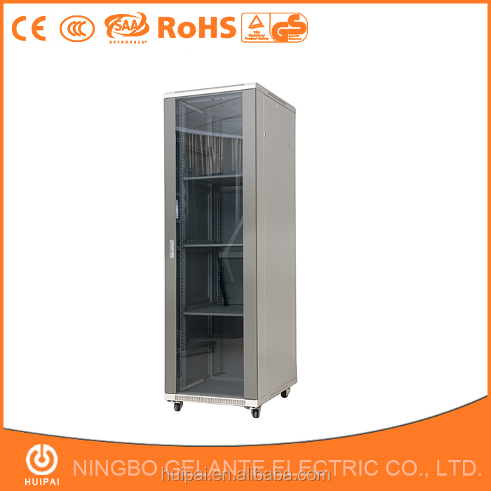 China suppliers high quality glass door 27u network rack
