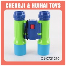 Plastic small funny kid cheap binoculars wholesale learning toy for sale
