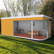 low price prefabricated steel garden office ,beautiful tiny house