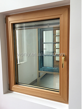 aluminum folding window price for balcony with double hollow tempered glass