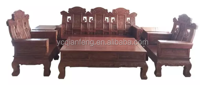 6pcs Set of Luxury Solid wood Sofa--Made of Rose wood