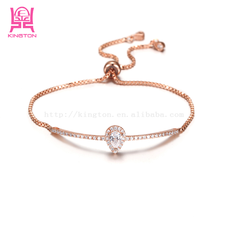 fancy chain stone bracelet for girls wedding party accessories