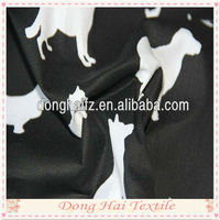 Popular 100% cotton dog printed canvas fabric for bags