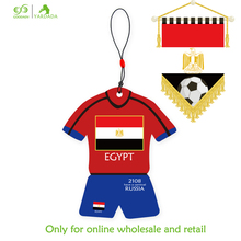 Egyptian football shirt shape football cup 2018 promotional item souvenir hanging absorbent paper car air freshener in stock