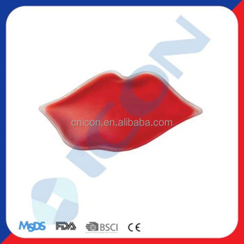 LIP SHAPED ICE PACK HOT COLD PACK