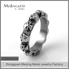 China Stainless Steel Jewelry Supplier Skull Mens Wedding Bands