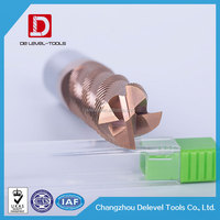 Delevel-Solid Carbide Roughing Side Milling Cutter / CNC Side Milling Rough Cutting Tool Manufacturer
