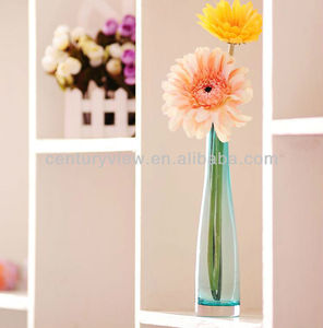 Showpieces for home decoration Color printing Glass Bud Vase