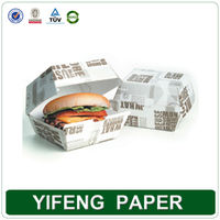 Disposable Recycled Design Paper Burger Boxes Wholesales