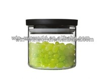 Healthy Custom Air Tight Hermetic Glass Storage Jar With Plastic lid And Sealed Ring