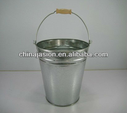 stainelss steel color small Bucket wire handle with wood block
