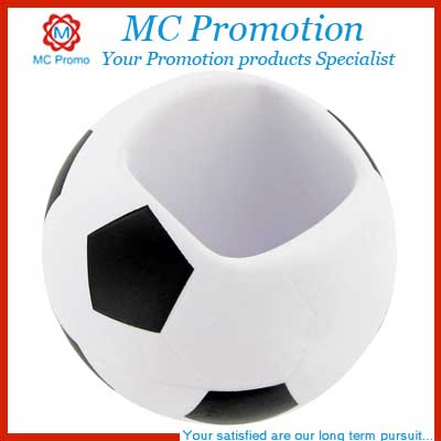 PU Stress Soccer Ball Cell Phone Holder