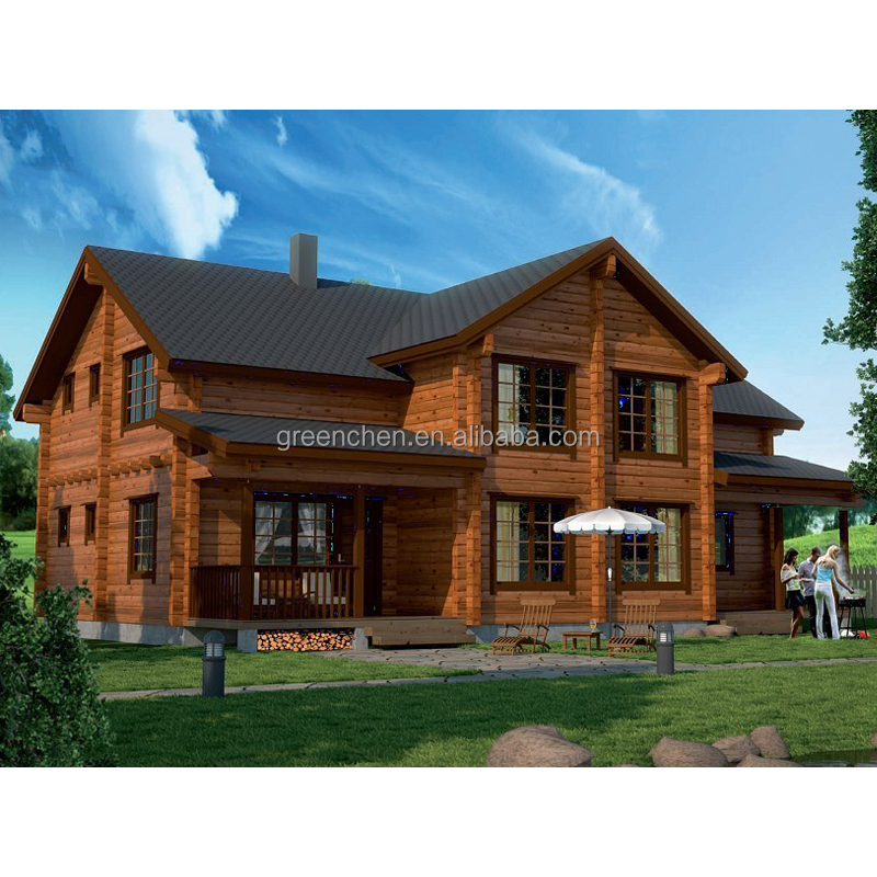 China made prefabricated wooden house with cheap price