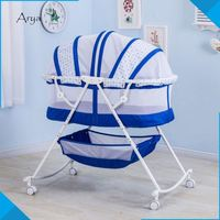 3 in 1 Portable luxury baby doll cribs and beds baby crib attached bed for sale foldable simple bed By Your Side sleeping