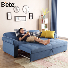 wholesale modern design fabric pull out sofa bed with ottoman