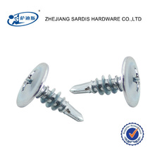zinc plated factory on sale Wafer head self tapping screws