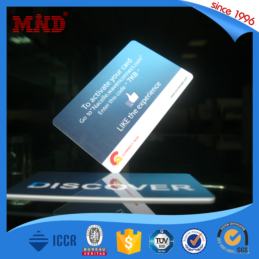 MDP78 NFC Business Card 13.56MHz Ntag213 Programmable Card for Cashless System
