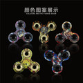 Tri-Spinner Fidget Toy Hand Spinner Camouflage, Stress Reducer Relieve Anxiety and Boredom Camo (Starry sky)