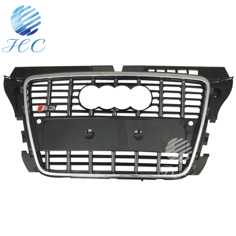 For Audi a3 s3 ABS front grille 2008-2012 8P style