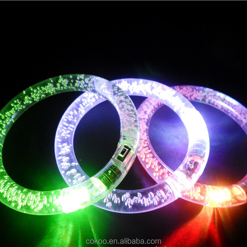 Multi colors Acrylic Event Party Supplies Decoration Light up Flashing Bracelet Armband Lighting Flash Sticks Festival Jewelry