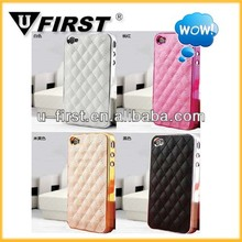 For iPhone 4/4s/5 PU Leather case cover with LOGO
