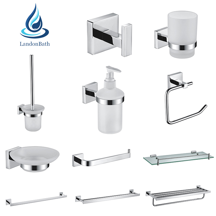 High quality SUS304 stainless steel bathroom accessory set bathroom hardware set