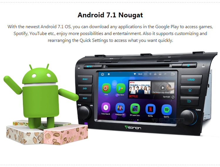 EONON GA8151 for Mazda 3(2004-2009) Android 7.1 Quad-Core 2 GB RAM 7 inch Car GPS Navigation Compatible with HDMI