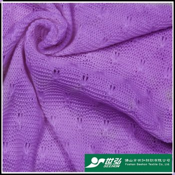 Hacci jacquard fabric, 100% polyester, for amice, fashion garment