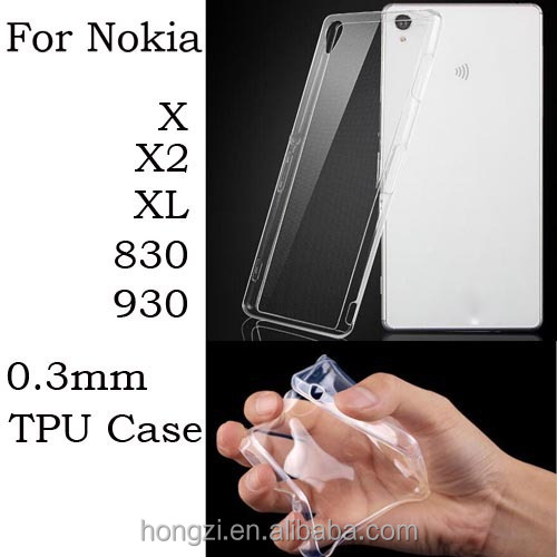 0.3mm Ultra thin Perfect Clear Crystal Transparent TPU Gel Soft Cover Case For Nokia Lumia X X2 XL 830 930