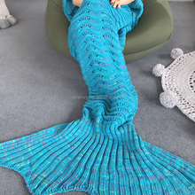 Wholesale Wrap Design Crochet Mermaid Tail Blanket For Adult