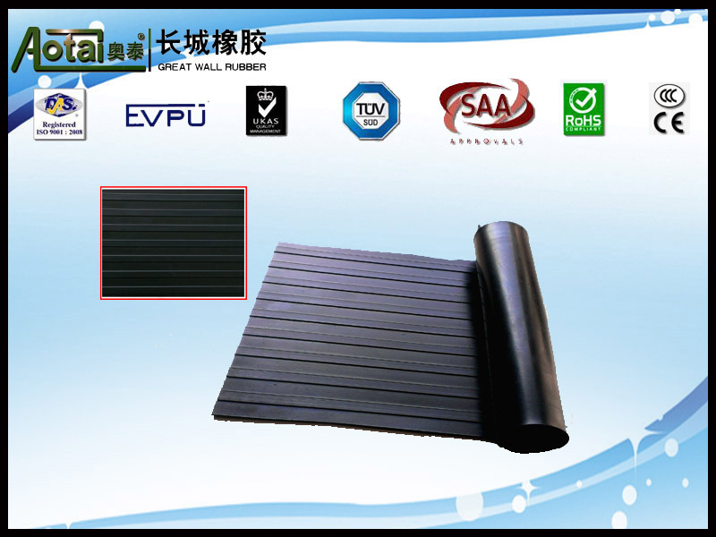 RIBBED RUBBER SHEET 3mm cheap anti-slip vulcanized rubber flooring mat rubber sheet