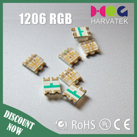 Good price 20mA ce rohs approved epistar chip 1206 3mm rgb led diode