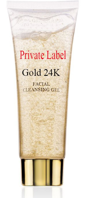 Private label Facial 24 K gold Cleansing Gel for Minimizing pores and leaving skin glowing & radiant