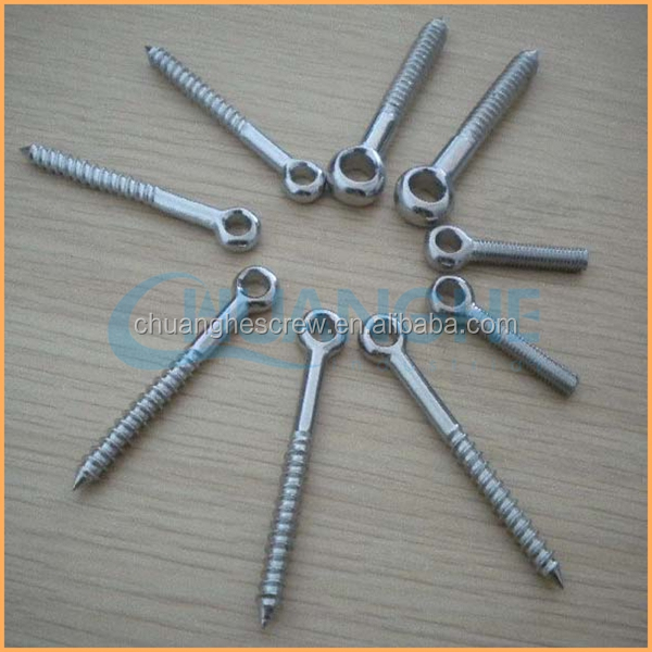 Factory price sales high quality white and blue or black zinc plated closed eye screw