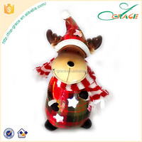 resin light up Christmas table decoration LED reindeer Led Christmas Decoration