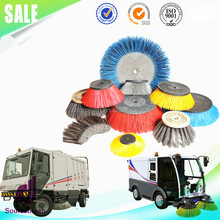 custom street sweeper gutter broom circular polypropylene cup brush for cleaning