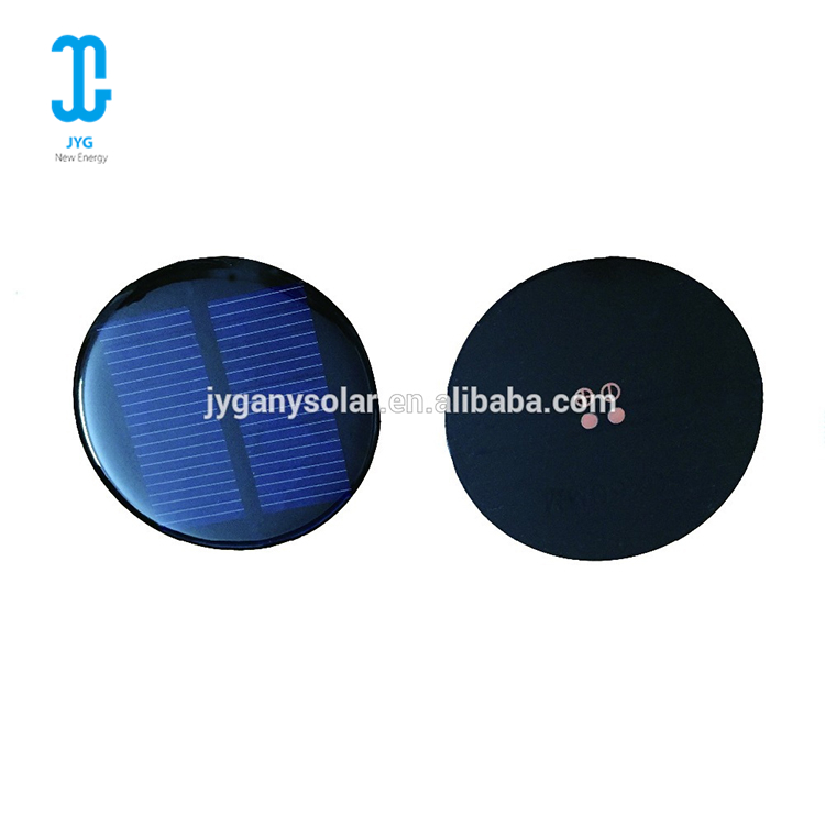 High efficiency portable round monocrystalline solar cell panel for 5V 60MA