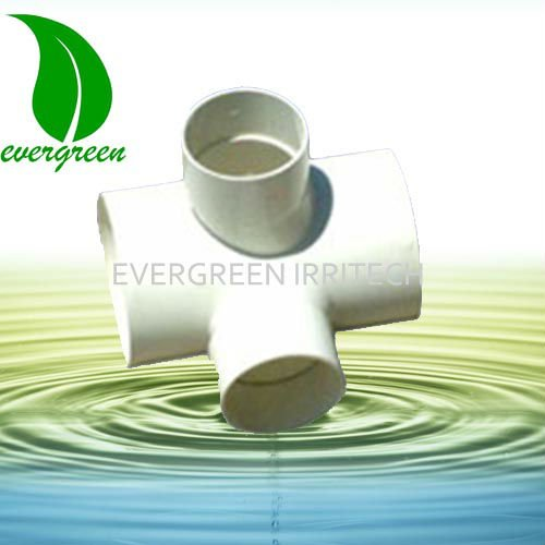 pvc cross joint pipe fitting