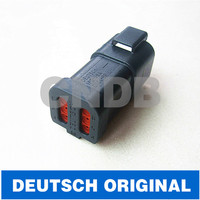 Original TE/deutsch DT series 6pole/6way/6pin housing DT04-6P-E005 black