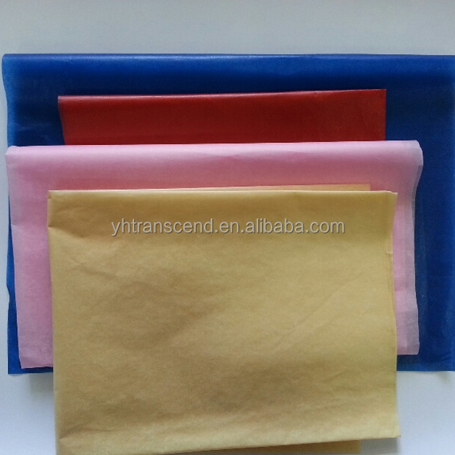 Colored wax paper for wrapping flower