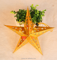 2015 Hottest Christmas Ornament outdoor/indoor Christmas Hanging Decoration For Five-pointed Star
