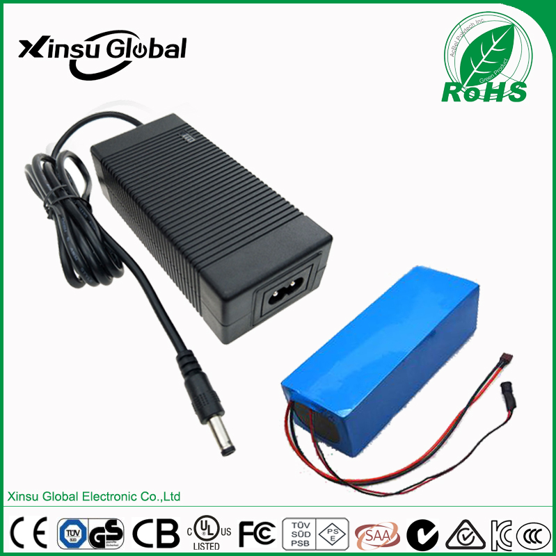 Three-stage charge mode 29.4V 2A smart li-ion battery charger