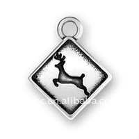 alloy plating antique silver Deer crossing sign jewellery charms yiwu wholesale