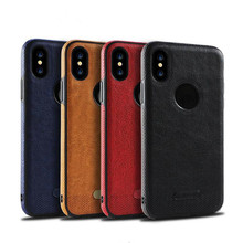 Smartphone Back Case Leather Cover For iPhone X/10,For Samsung