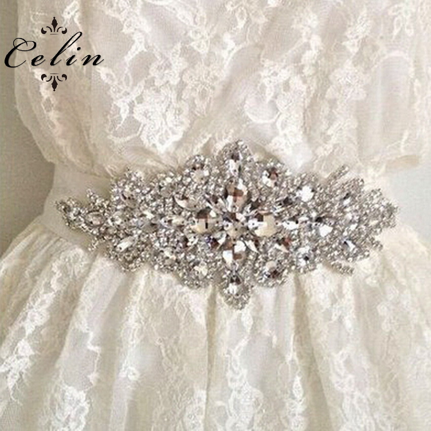 Celintirm Wholesale Bridal wedding dress sash belts Rhinestone Appliques and trimming Applique for Wedding Cake Decoration