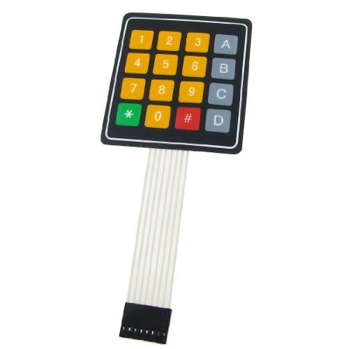 DC 12V 4x4 Keypad 16 Key Matrix Membrane Switch Keyboard 77 x 69 x 0.8mm
